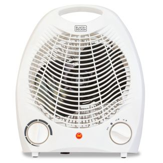 BLACK+DECKER Manual Heater Fan White