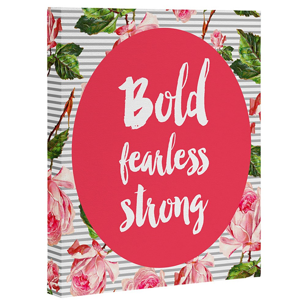 Allyson Johnson Bold and Fearless Art Canvas - Deny Designs, Multicolored Pink