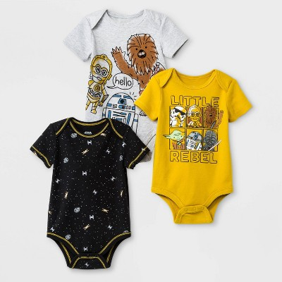 Baby Boys' 3pk Star Wars Bodysuit - 12M