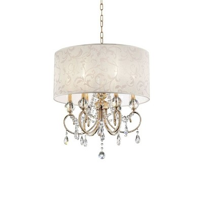 "OK Lighting 24.5""H Aurora Ceiling Lamp"