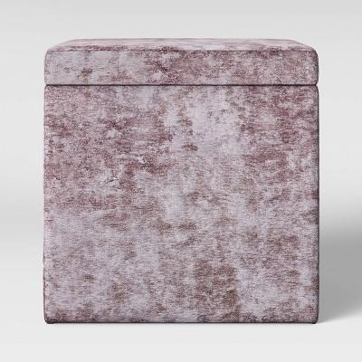 Plano Square Storage Ottoman Blush Velvet - Project 62™