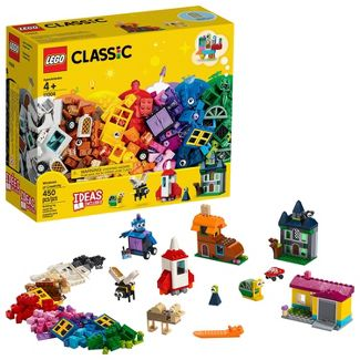 LEGO Classic Windows of Creativity Building Kit with Toy Doors for Creative Play 11004