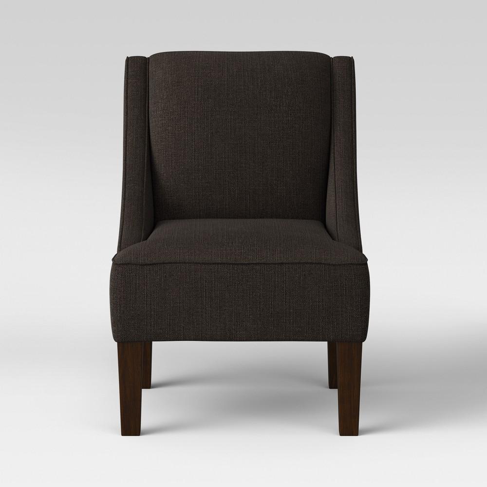 Hudson Swoop Arm Chair Dark Charcoal - Threshold