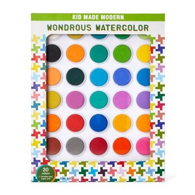 Kid Made Modern Wondrous Watercolor Paints - 30 Color
