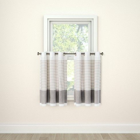 Curtain Tier Stripe Gray - Project 62™ - image 1 of 2
