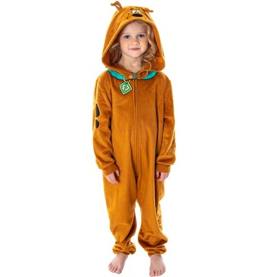 Scooby Doo Toddler Kids Scooby Doo Costume Pajama Union Suit Onesie