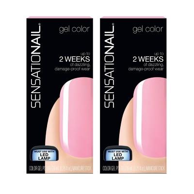 SensatioNail Express Gel Nail Polish - Pink Chiffon - 0.25 fl oz/2pk