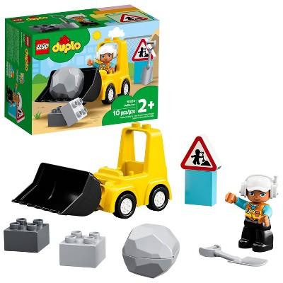 LEGO DUPLO Construction Bulldozer Truck Set; Functional Construction Toy for Kids 10930
