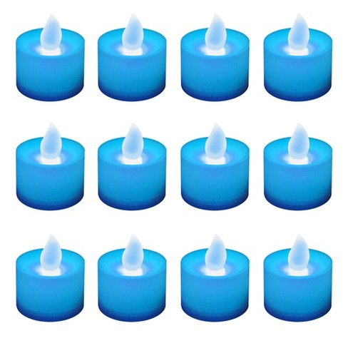 12ct Battery Operated LED Tea Lights - Blue - image 1 of 2