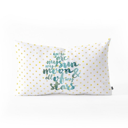 Hello Sayang You Are My Sun My Moon And All Of My Stars Lumbar Throw Pillow White - Deny Designs - image 1 of 3
