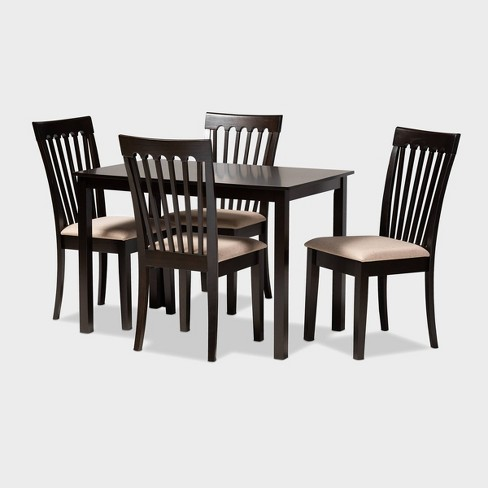 Minette Finished Wood 5pc Dining Set - Baxton Studio - image 1 of 5