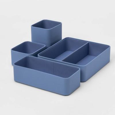 4pc Modular Desktop Organizer Set Blue - Project 62™