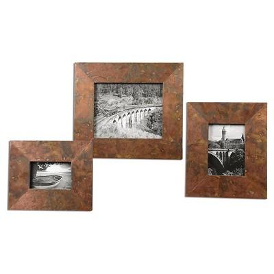 Uttermost Ambrosia Copper Photo Frames Set of 3