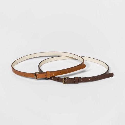 Women s 2 For 1 Belts - Universal Thread™ Brown Tan   Target 739dc687c