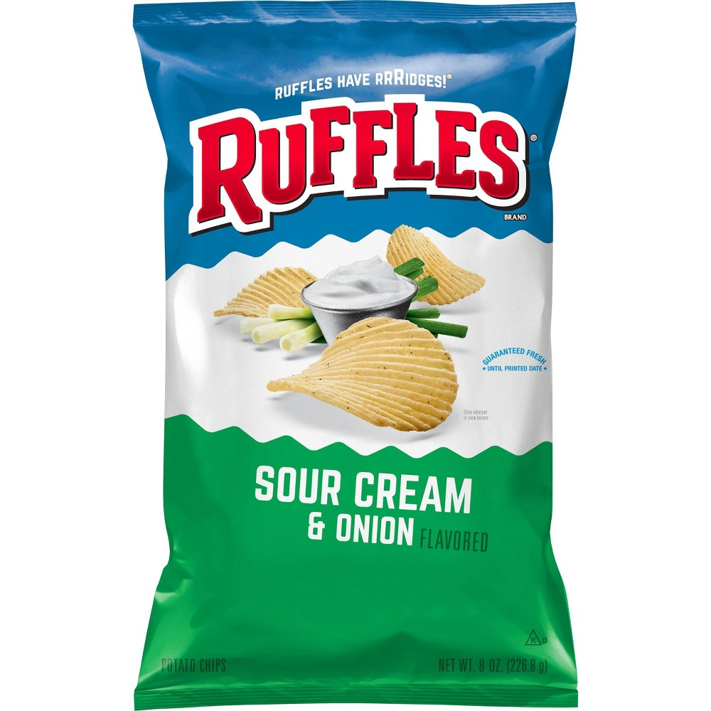 Ruffles Sour Cream And Onion Chips 8 5oz