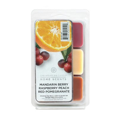 6pk Wax Melts Mandarin Berry/Raspberry Peach/Red Pomegranate - Home Scents By Chesapeake Bay Candle