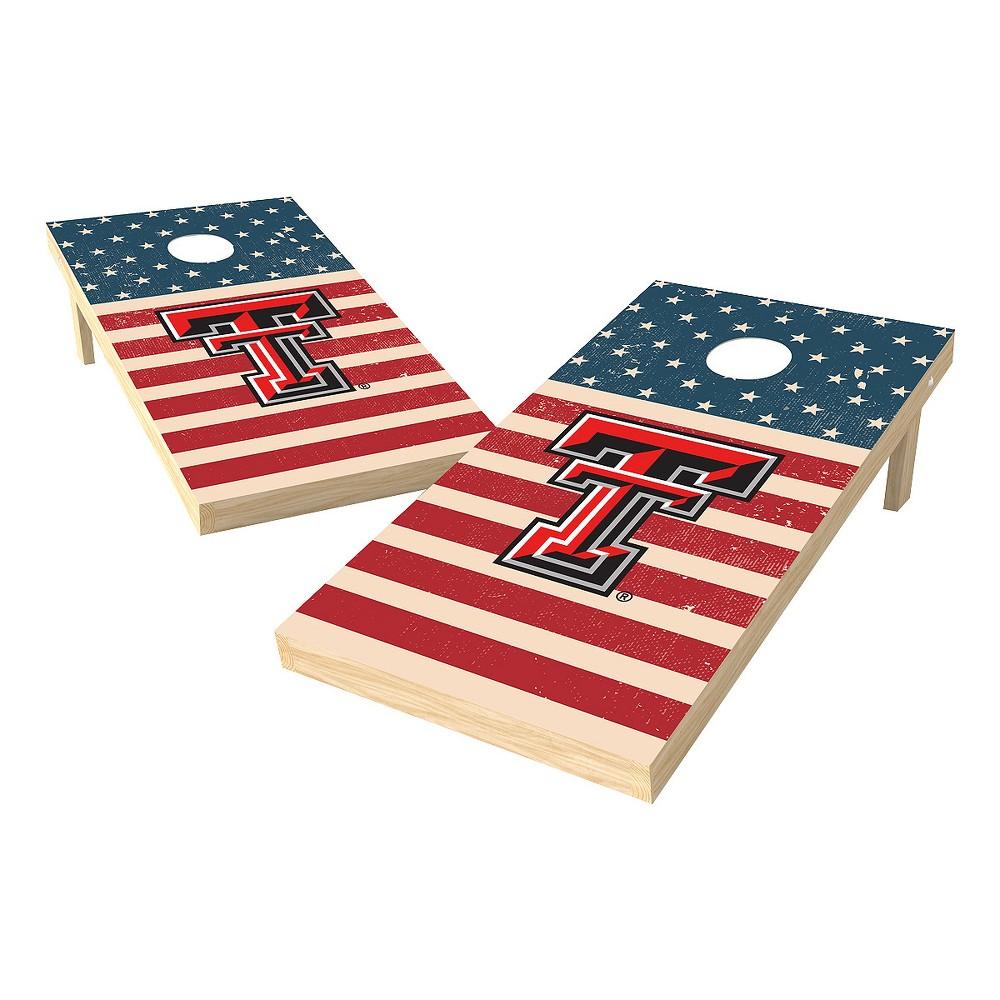 NCAA 2x4 Authentic Cornhole College Texas Tech Red Raiders Sas Worn Shadow Design