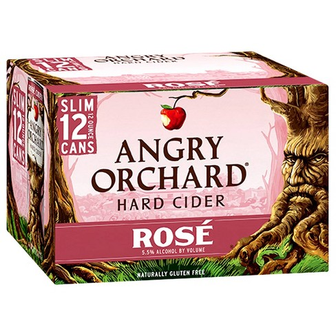Angry Orchard Rosé Cider - 12pk/12 fl oz Slim Cans - image 1 of 3