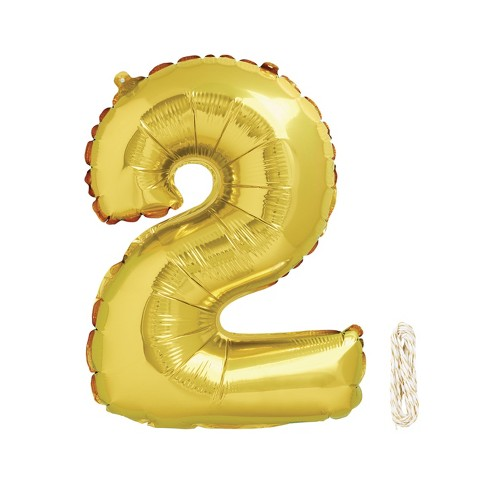 "1ct 34"" Number 2 Foil Balloon - Spritz™ - image 1 of 1"