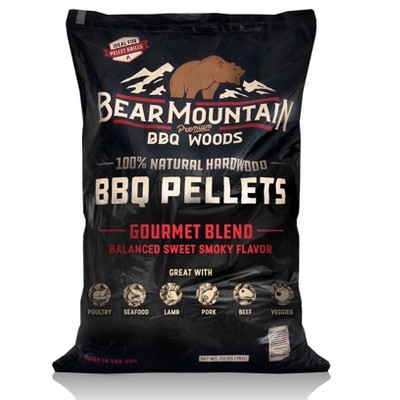 Bear Mountain BBQ FB99 All-Natural Hardwood Smoky Gourmet Blend BBQ Smoker Pellets for Outdoor Grilling, 40 lbs