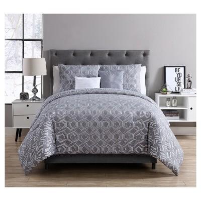 Gray Eli Comforter Set (King)5pc - VCNY