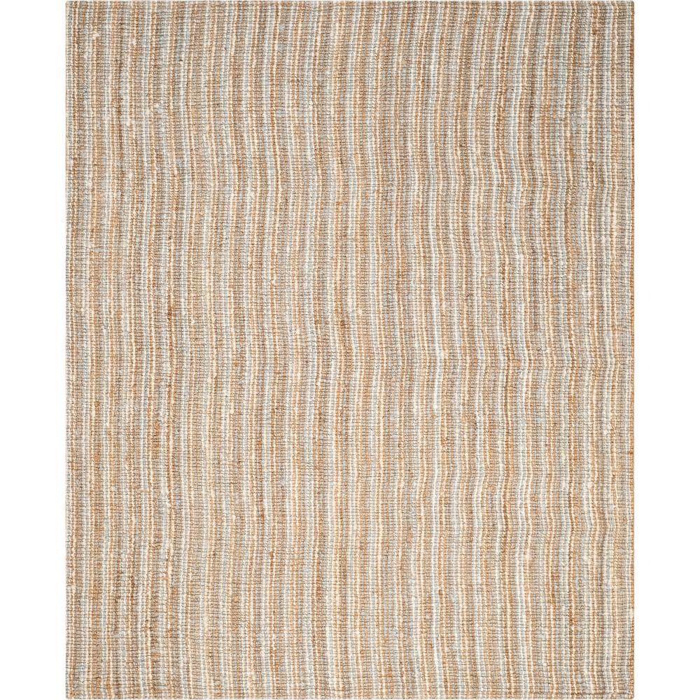 10'X14' Stripe Woven Area Rug Gray/Natural - Safavieh