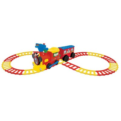 Kiddieland Disney Mickey Mouse Battery Powered Ride On Train w/ Tracks & Caboose