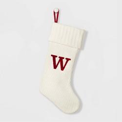 Knit Monogram Christmas Stocking White - Wondershop™