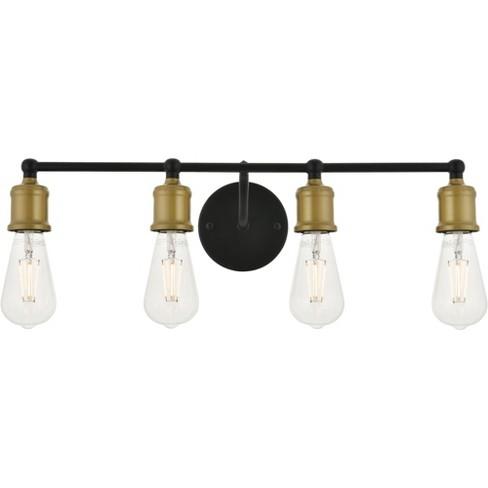 Elegant Lighting Ld4028w22 Serif 4 Light 22 Wide Bathroom Vanity Light Brass Black Target