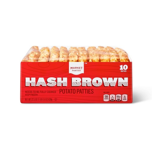 Frozen Hash Brown Patties - 22.5oz/10ct - Market Pantry™ - image 1 of 2