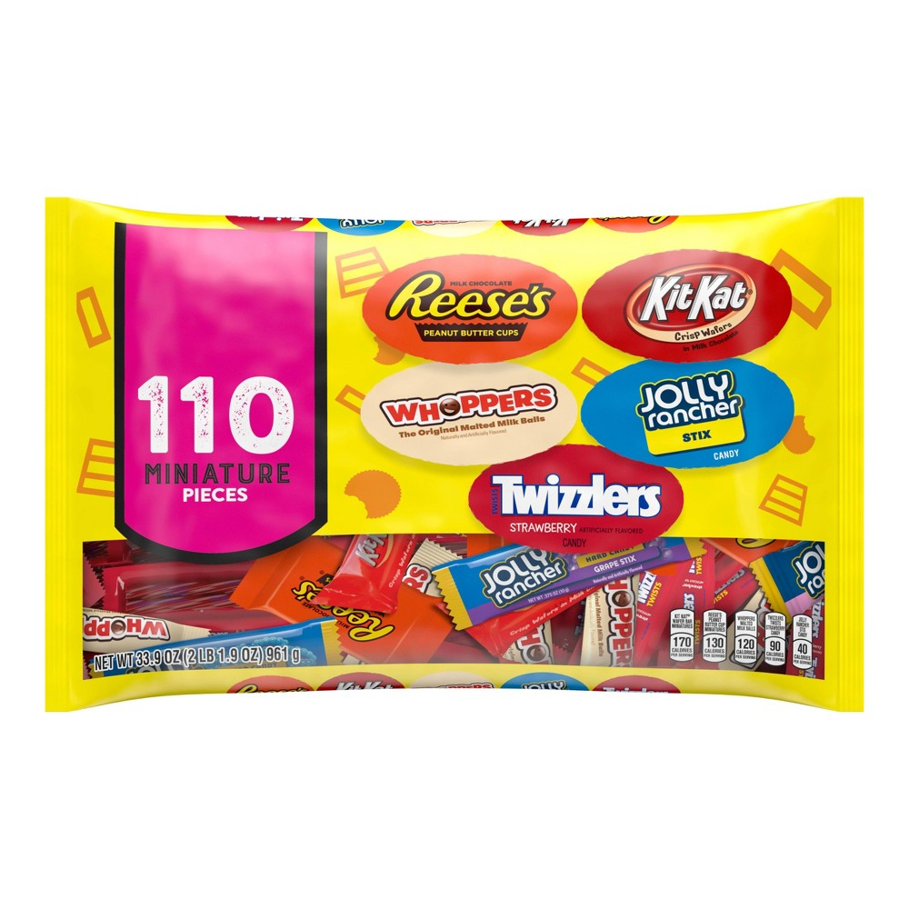 Reese's Whoppers Kit Kat Jolly Rancher and Twizzlers Halloween Variety Bag - 33.9oz / 110ct