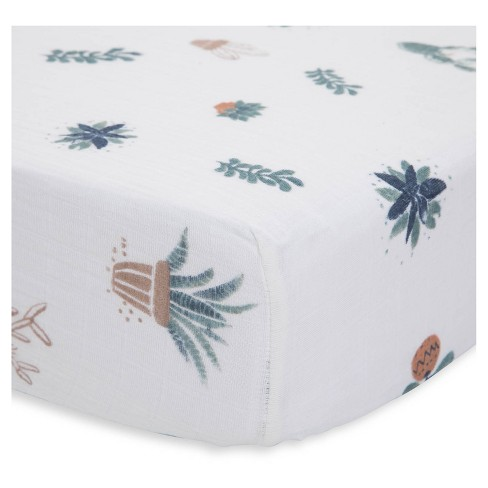 Little Unicorn Cotton Muslin Fitted Crib Sheet - Prickle Pots - image 1 of 4