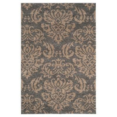 Gray/Beige Abstract Loomed Area Rug - (8'x10')- Safavieh®