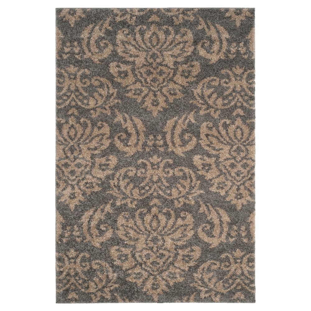 Gray/Beige Abstract Loomed Area Rug - (8'x10') - Safavieh