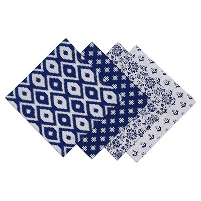 Blue Printed Napkin (Set Of 4)- Design Imports