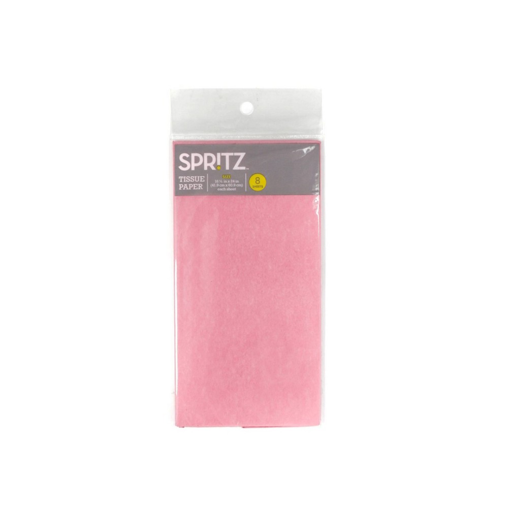 8ct Pegged Tissue Paper Pink Spritz 8482