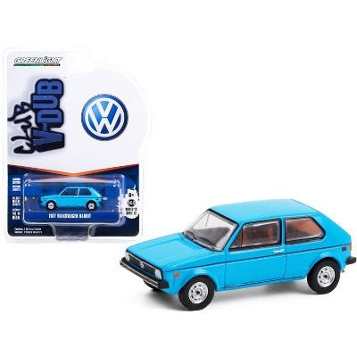 """1977 Volkswagen Rabbit Miami Blue """"Club Vee V-Dub"""" Series 12 1/64 Diecast Model Car by Greenlight"""