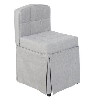 Skirted Tufted Vanity Seat Gray - Silverwood