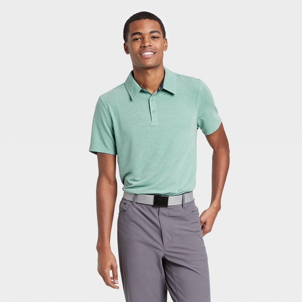 Men's Pique Golf Polo Shirt - All in Motion Turquoise XL was $22.0 now $12.0 (45.0% off)