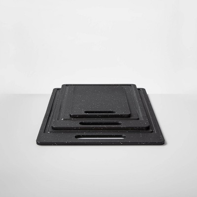 3pc Polygranite Cutting Mat Set Black - Made By Design™