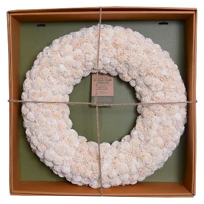 Dried Shola Kadam Wreath (21.25 )- Cream - Smith & Hawken™