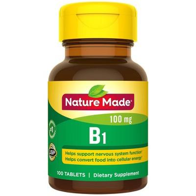 Vitamins & Supplements: Nature Made Vitamin B1