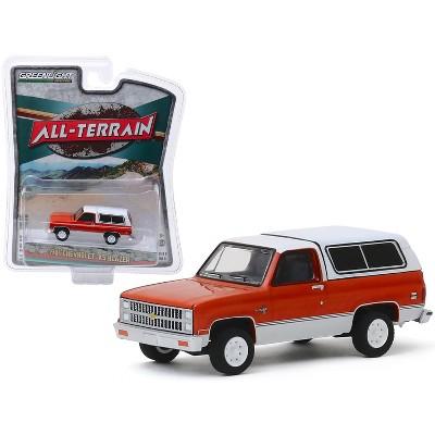 "1981 Chevrolet K5 Blazer Burnt Orange Metallic & Frost White ""All Terrain"" Series 9 1/64 Diecast Model Car by Greenlight"