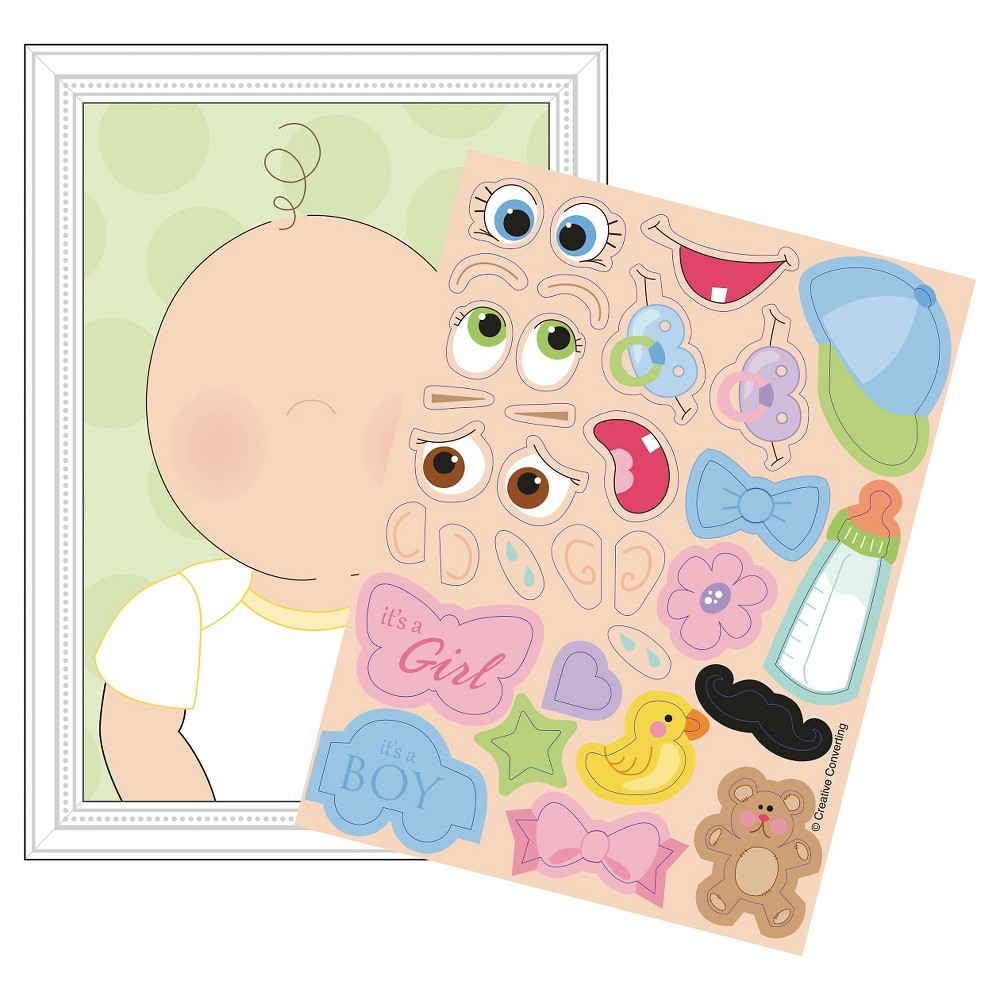 This Baby Looks Like Baby Shower Game, 8 pk, Multi-Colored