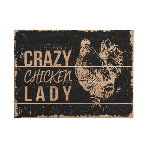 Chicken Lady Wall Art - Foreside Home and Garden - image 1 of 2