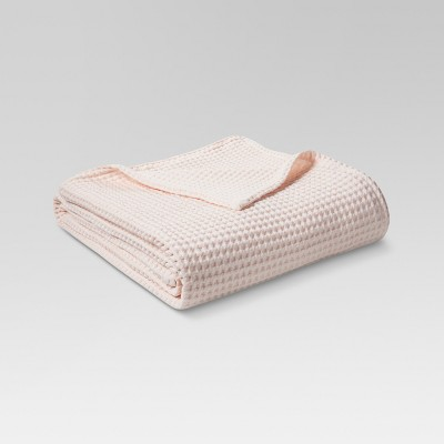 Waffle Weave Bed Blanket (Full/Queen)Possibly Pink - Threshold™