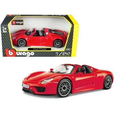 Porsche 918 Spyder Convertible Red 1/24 Diecast Model Car by Bburago