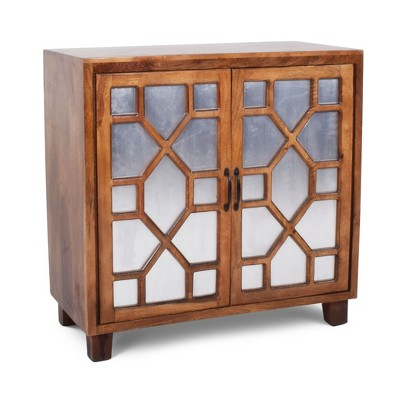 Charmant Savannah Accent Cabinet Mango Wood With Iron Sheet Accent   Steve Silver :  Target