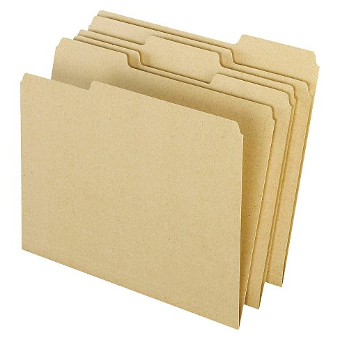 Pendaflex® Earthwise® Recycled Paper File Folders, 1/3 Cut Top Tab, Letter, Natural, 100/Box - image 1 of 1