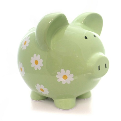 "Child To Cherish 7.5"" Daisy Piggy Bank Baby Birth Birthday Gift - image 1 of 4"